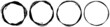 Grungy textured circle element, shape. Circular grunge shape