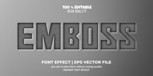 Editable Font Effect, Emboss Text Style