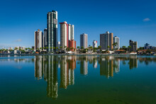 Campina Grande, Paraíba, Brazil On September 2, 2021. Old Dam And Buildings.