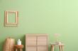 Leinwandbild Motiv Interior of stylish modern room with green wall