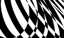 Monochrome Background In Op Art Style Mesmerizing Optical Illusion
