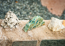 Stones Of Different Colors In A Stone Wall