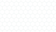 Seamless Hexagon Grid Background. Geometry Pattern Hexagon. Hexagonal Netting. Honeycomb Background. Abstract Vector Background.