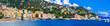 Leinwanddruck Bild - Italy, Liguria travel and landmarks. Beautiful italian coastal town Rapallo. View of medieval fortress and promenade.
