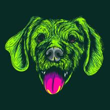 Green Dog Face Artwork