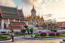 Iron Temple In Bangkok City, Thailand