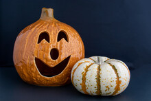 Ceramic And Natural Pumpkins