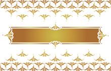 Thai Pattern Template Vector Background, Thai Modern Pattern, Background