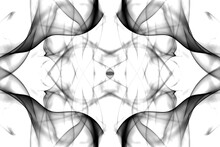 Abstract Graphics Black White Fractal Reflection Symbol, Design Effect Meditation Background