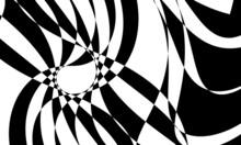 Black Distorted Op Art Pattern