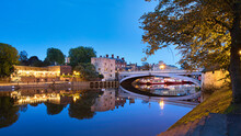 York River Ouse At Blue Hour.