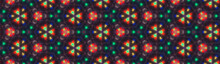 Abstract Hypnotic Kaleidoscope Seamless Mandala Patterns Abstract Multicolored Graphics Background Can Be Used For Wallpaper, Website Background, Wrapping Paper. Flower Concept. Summer Design