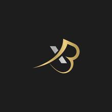 Alphabet Initials Logo BX, XB, X And B