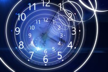 Time Flow. 3d Rendering Illustration