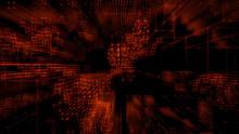 Quantum Computer Architecture. Futuristic Smart Grid And Global Connectivity Concept. Blue Tech Background. 3D Render.