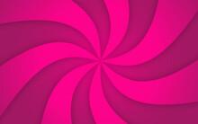 Abstract Pink Background With Swirls. Pink Sunburst Vector Background