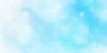 Sky Blue Shades Watercolor Background. Blue Watercolors, Abstract Background.