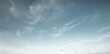 Panorama of blue sky with cirrus clouds