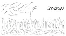 Dubai City Buildings, Line Graphics