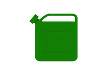Green Jerry Can Vector On A White Background