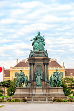 Vienna, Austria. Maria Theresa Monument, Archduke Of Austria And Empress Of The Holy Roman Empire. Maria Theresa Ruled In The Habsburg Monarchy In 1740-1780. The Monument Was Erected In 1888