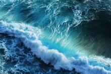 Green Water Tide In The Ocean