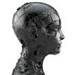canvas print picture - zerstörter Kopf im Profil
