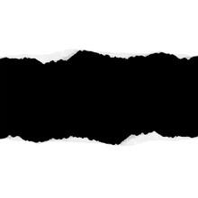 Des Morceaux De Papier Horizontal Noir Déchiré Avec Une Ombre Douce Collés Sur Un Fond Carré Blanc