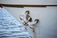An Old Anchor On A Ship