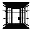 canvas print picture - Silhouette mit einem Käfig