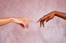 Crop People Directing Fingers To Each Other