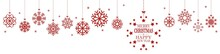 Hanging Snow Flakes For Christmas Time With Greetings
