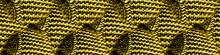 Knit Pattern Wallpaper. Yellow Wool Knit