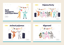 Pajama Party With People Relax, Dance, Have Fun Wearing Funny Animal Onesize Kigurumi Jumpsuits