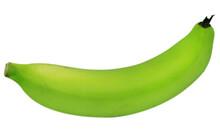 Whole Green Banana Isolated On White Background