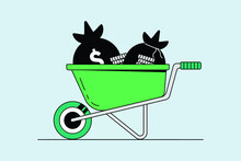 Add To Cart, Online Shopping Cart Flat Icon Illustration