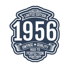 Vintage 1956 Aged To Perfection, 1956 Birthday Typography Design For T-shirt