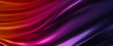 Colorful Neon Luxurious Elegant Modern Futuristic Cyberspace Chrome Shiny Metallic Waves Flow Abstract Background For Wallpaper, Print, Covers And Graphic Design In 8K High Resolution