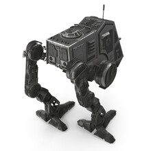 All Terrain Personal Transport Clean Back Robotic Walker Isolated On White 3D Illustration