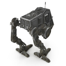 All Terrain Personal Transport Dirt Back Robotic Walker Isolated On White 3D Illustration