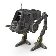 All Terrain Personal Transport Dirt Robotic Walker Isolated On White 3D Illustration