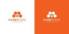 Simple And Modern Honey Care Logo Design 2