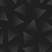 Stippled Triangles Dark Gray Abstract Seamless Pattern