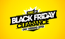 Black Friday Clearance, Weekend Offer - Vector Sale Web Banner