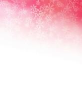 赤い雪のフレームがある背景素材