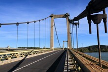 Rhone River Bridge In France