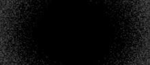 Halftone Dots Confetti Border Background.