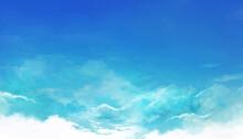 青空の風景イラスト