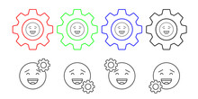 Awkward, Smile, Emotion Vector Icon In Gear Set Illustration For Ui And Ux, Website Or Mobile Application