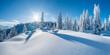 canvas print picture - Winterpanorama - Verschneite Winterlandschaft